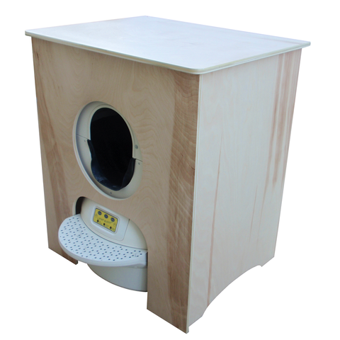 Concealer Cabinet for Litter-Robot (unfinished birch)