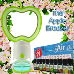 Apple Breezer with 10x10ml Assorted Essences Worth £24.99 by CareforAir *FREE Postage*
