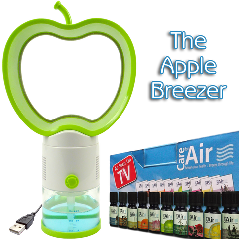 FB Apple Breezer with 10x10ml Assorted Essences Worth £24.99 by CareforAir *FREE Postage* - CareforAir UK