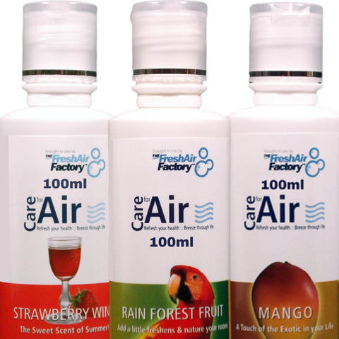 Strawberry, Rainforest, Mango 100ml Special Offer - CareforAir UK
