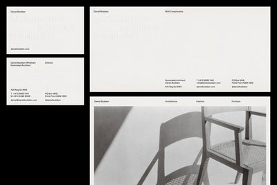 Natasha Mead of 1/1 Studio, Visual identity for Daniel Boddam