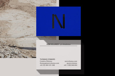 M.Giesser, Melbourne based design studio. Visual identity for New Volumes.