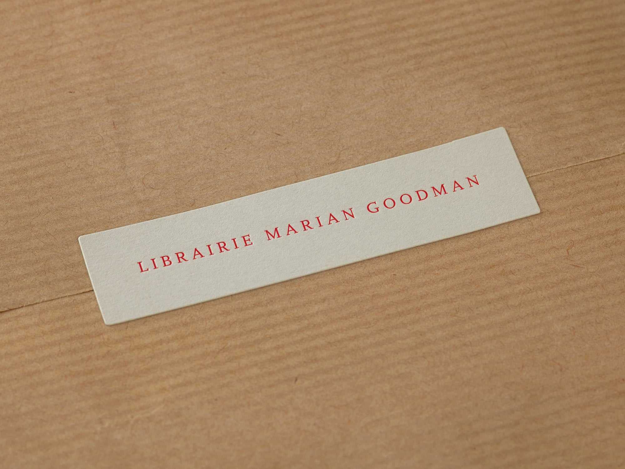 A Practice for Everyday Life: Librairie Marian Goodman