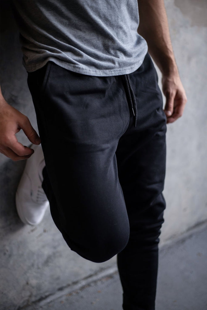 Male Model in the essential joggers