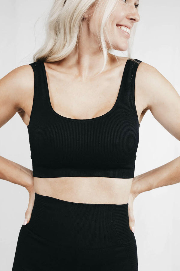 Kick Ass Workouts™ Sports Bra Ribbed Seamless Bra