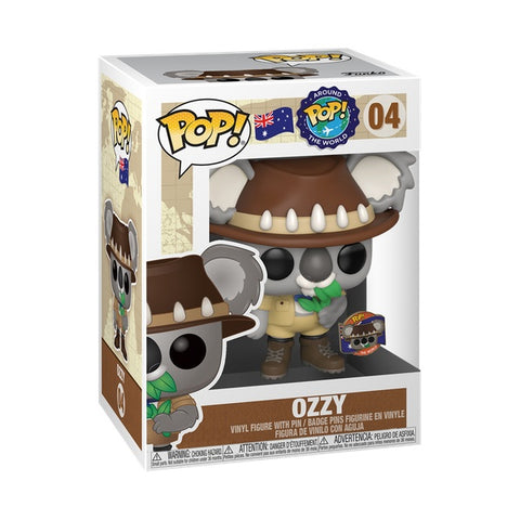 Image of Funko Around the World - Ozzy Koala (Australia) Pop! Vinyl with Pin