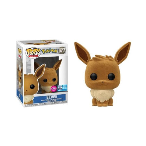 Pokemon Eevee Flocked Wondercon Pop Vinyl