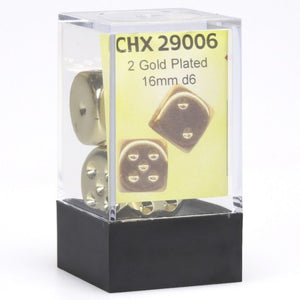 Dice - Chessex 2 Gold Plated D6