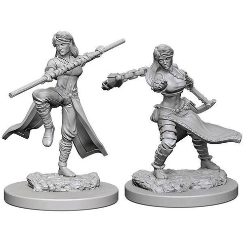 D&D - Unpainted Human Female Monk