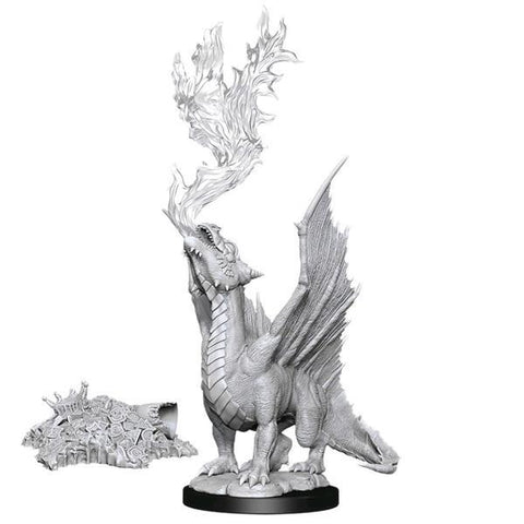 Dungeons & Dragons - Nolzur's Marvelous Unpainted Minis: Gold Dragon Wyrmling & Treasure