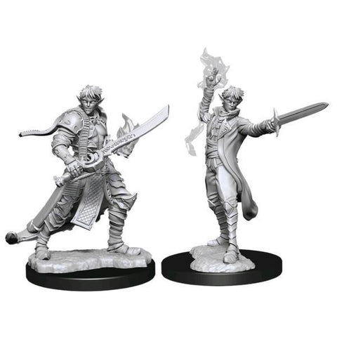 Pathfinder - Deep Cuts Unpainted Miniatures: Male Elf Magus (Magic)