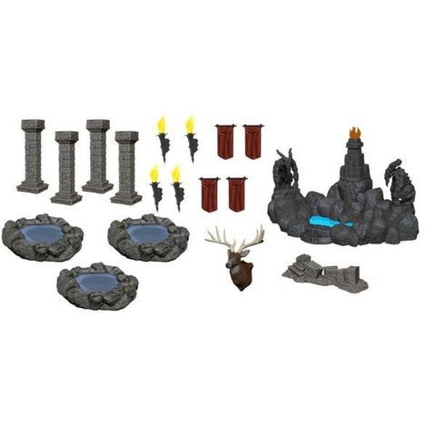 WizKids - Deep Cuts Unpainted Miniatures: Pools & Pillars