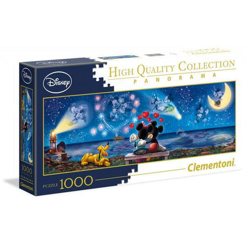 Clementoni Disney Puzzle Mickey and Minnie Panorama 1000 Pieces -