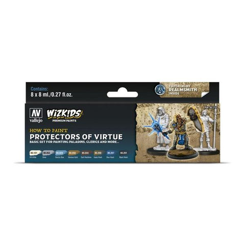 Wizkids Premium Paint Set by Vallejo: Protectors of Virtue