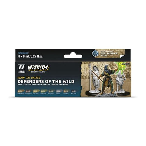 Wizkids Premium Paint Set by Vallejo: Defenders of the Wild