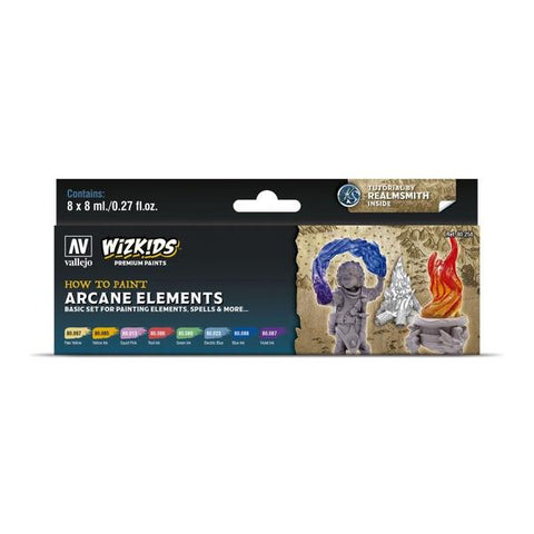 Wizkids Premium Paint Set by Vallejo: Arcane Elements