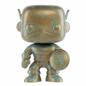 Captain America - Marvel 80th Anniversary Patina US Exclusive Pop! Vinyl [RS]