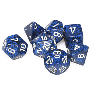 Dice - Chessex Speckled Polyhedral Stealth (7 Dice in Display)