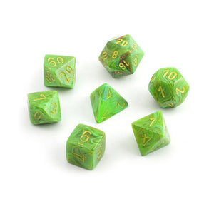 Dice-Chessex Vortex Polyhedral Slime/yellow