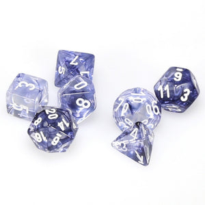 Dice - Chessex Nebula Black/White 7 Die Set