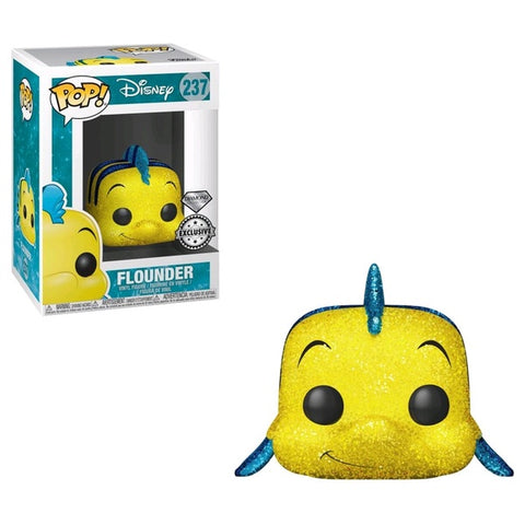The Little Mermaid - Flounder Diamond Glitter Specialty Series Exclusive Pop! Vinyl - Ret End Oct