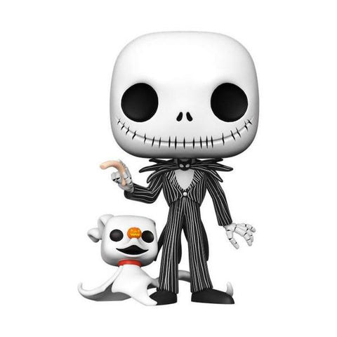 "The Nightmare Before Christmas - Jack with Zero Glow US Exclusive 10"" Pop! Vinyl [RS]"
