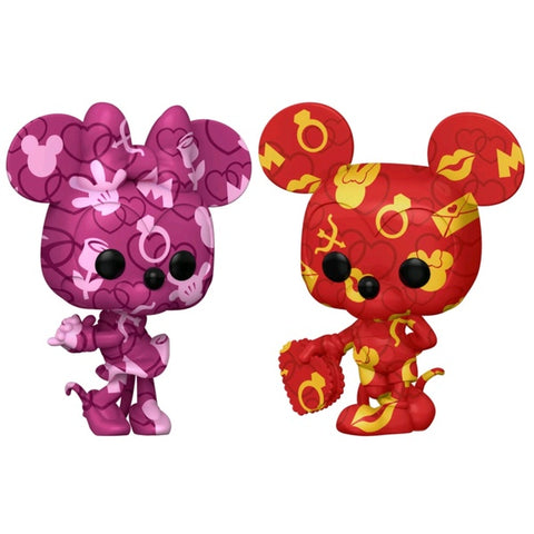 Mickey Mouse - Mickey and Minnie (Atrist) US Exclusive Pop! Vinyl Bundle [RS]