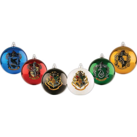Harry Potter House Crest Bauble Christmas Ornament Set