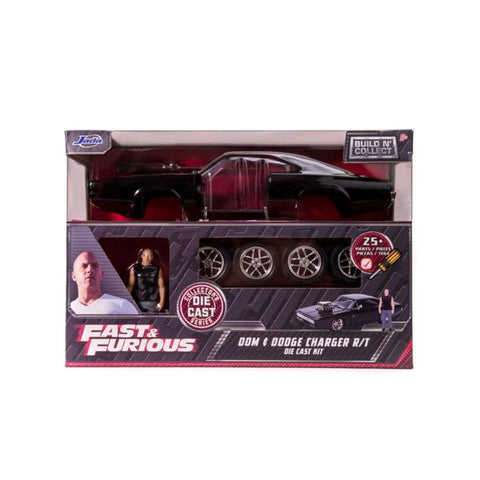 Fast and Furious - Dom's Dodge Charger with Dom 1:24 Scale Diecast Model Kit