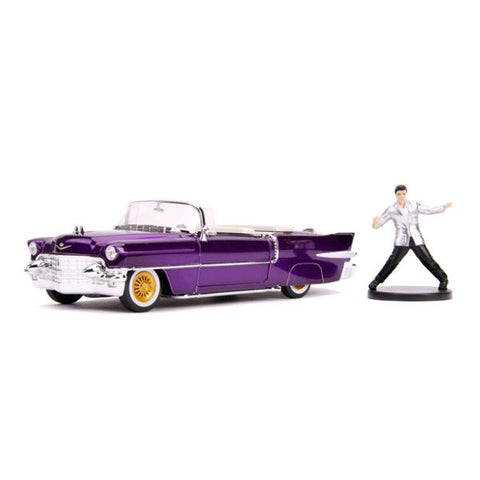 Elvis - 1956 Cadillac El Dorado 1:24 with Figure Hollywood Ride