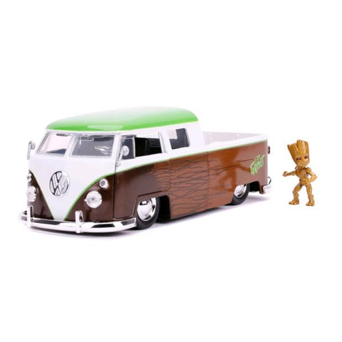 Image of Guardians of the Galaxy: Vol. 2 - 1962 Volkswagon Bus with Groot 1:24 Scale Hollywood Ride