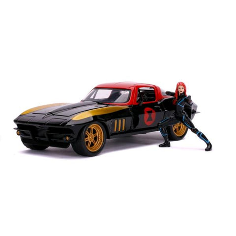 Avengers - '66 Chevy Corvette w/Black Widow 1:24 Scale Hollywood Ride