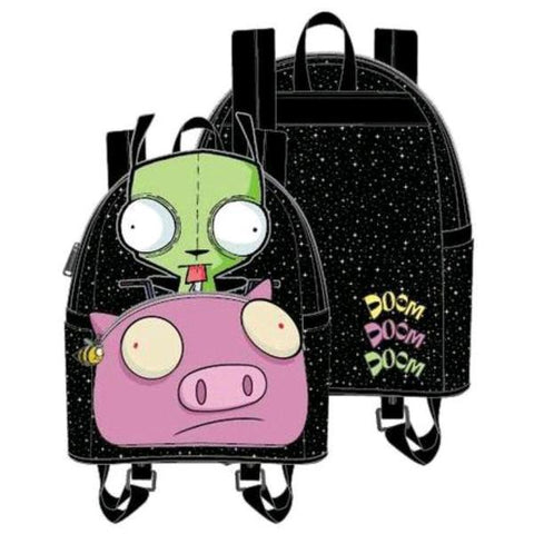 Loungefly Invader Zim - GIR Pig Doom Mini Backpack