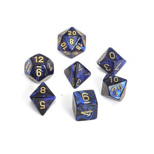Dice - Chessex Scarab Polyhedral Royal Blue/Gold