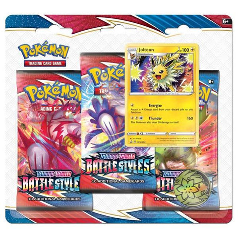 Image of POKÉMON TCG Sword and Shield - Battle Styles Three Booster Blister