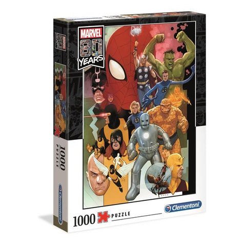 Clementoni Puzzle Marvel 80th AnniversaryImpossible Puzzle 1,000 pieces
