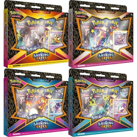 Pokemon TCG: Pin Collection- Shining Fates Mad Party - 2nd Shipment No confirmed Eta 2021-Limit 10 per customer