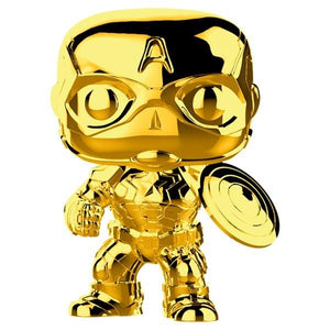 Marvel - Captain America Gold Chrome Pop Vinyl