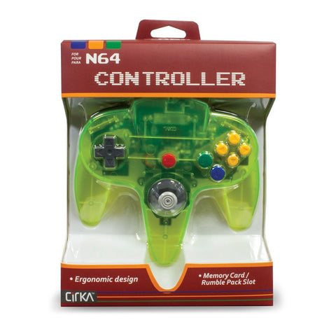 N64 CirKa Controller Cyanine/Jungle