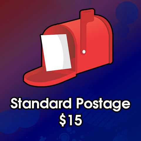 Standard Postage Cost $15 - Excludes international orders