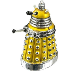 "Doctor Who - Dalek (Yellow) 5"" Glass Xmas Ornament"
