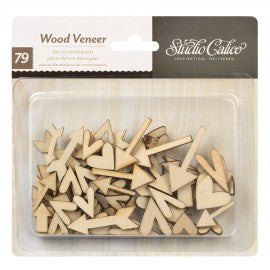 Studio Calico Wood Veneer - Hearts & Arrows - sugar and spice crafts