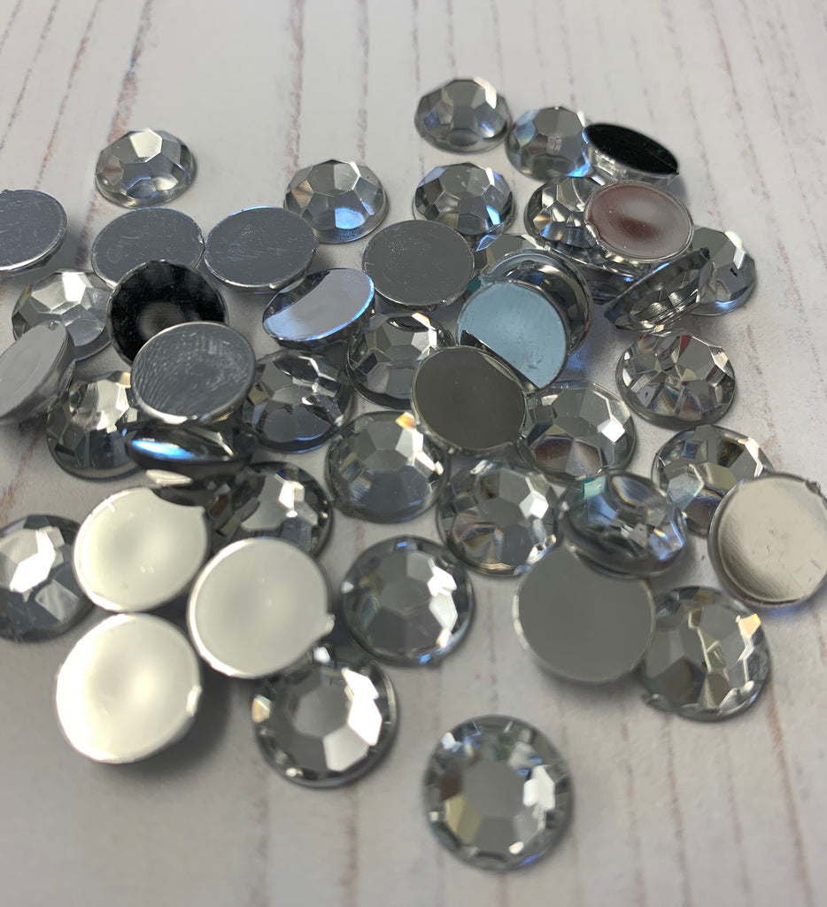 Diamontes 10mm Flat Back