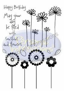 Marion Emberson Designs - Sunshine and Flowers - sugar and spice crafts - 1