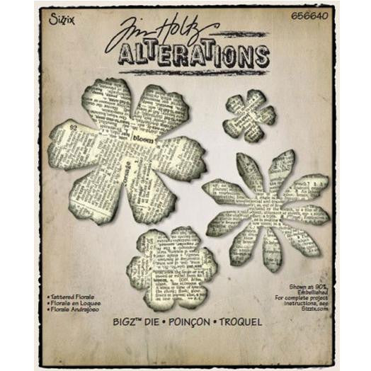 Sizzix Tattered Florals - sugar and spice crafts