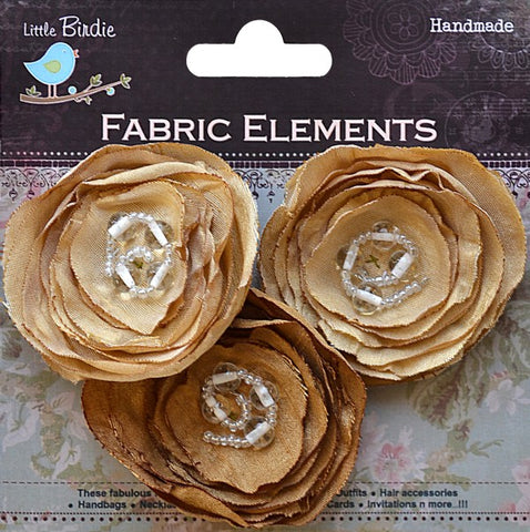 Fabric Beaded Blooms - See more ooptions - sugar and spice crafts - 1