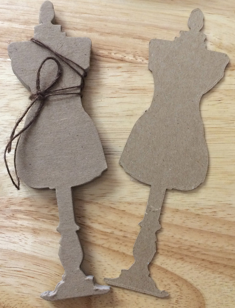 Sugar and Spice Chipboard Dress Form - sugar and spice crafts