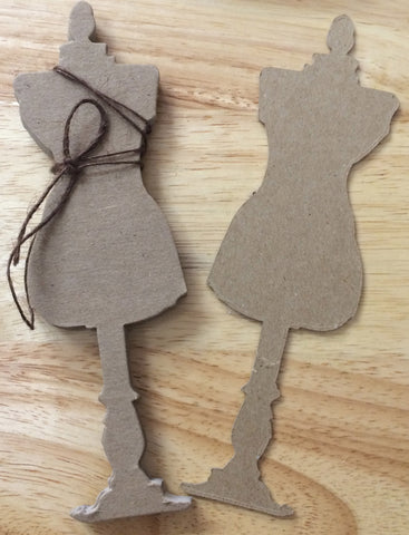 Sugar and Spice Chipboard Dress Form