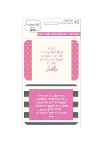 Project Life Themed Cards - Beckys Quotes 40 pack