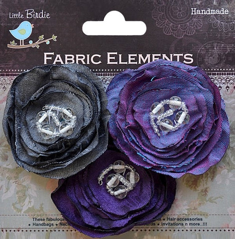 Fabric Beaded Blooms - See more ooptions - sugar and spice crafts - 7